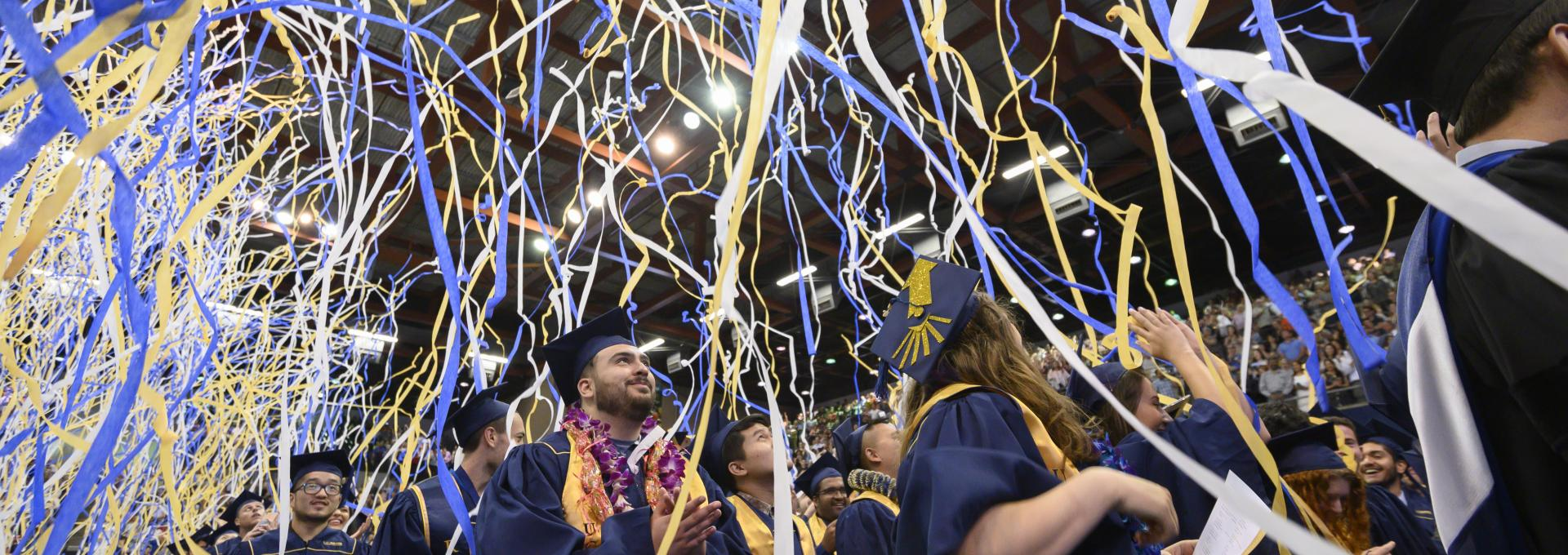 UC Davis Graduation with Streamers
