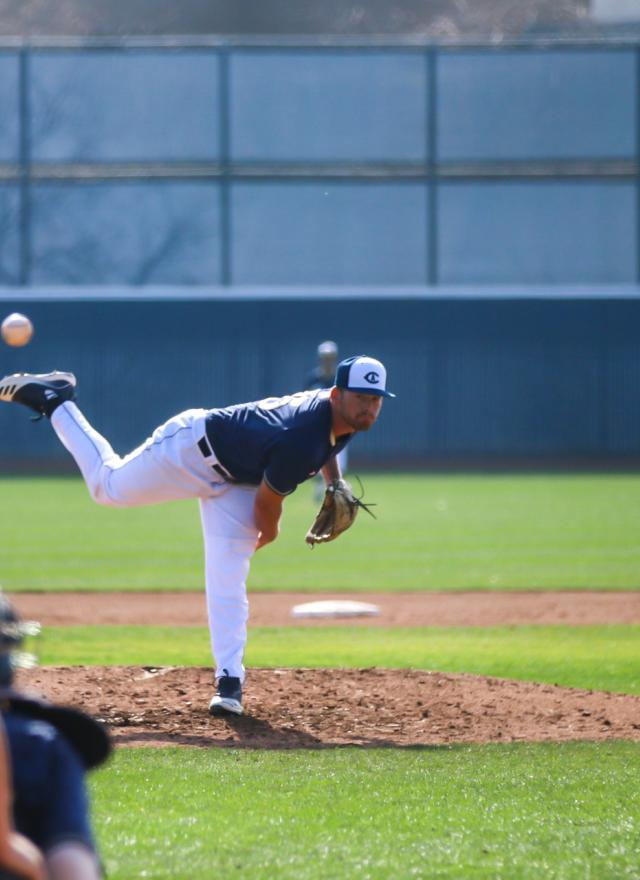 Wyatt Tucker MPAc 21 Pitching for the UC Davis baseball team