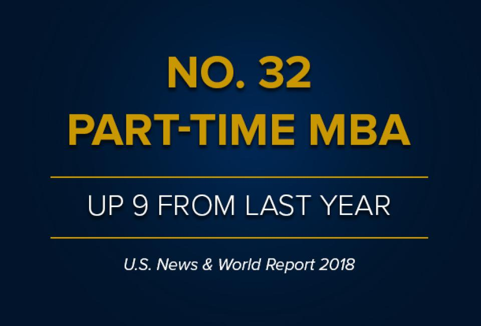 NO. 32 Part-Time MBA