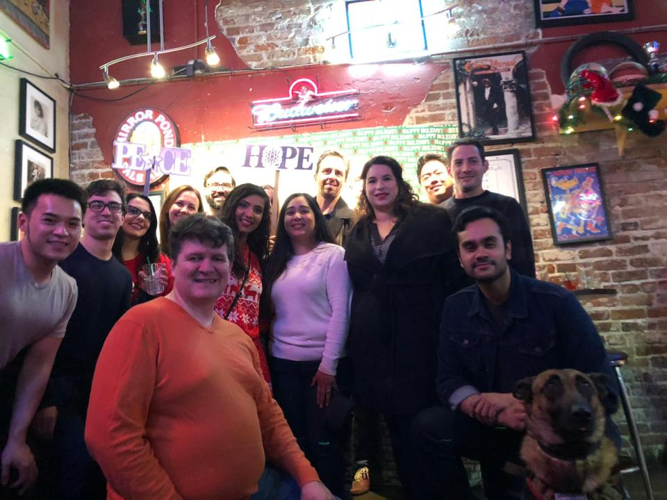 Karaoke Night with Sacramento Part-Time MBA students, Dec. 2017