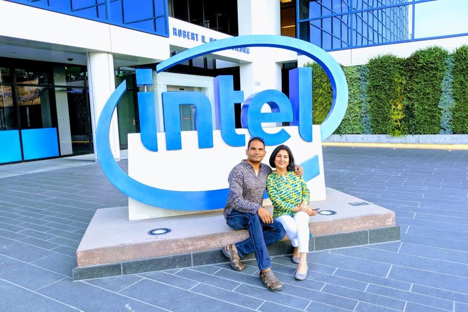 Manik and Shalini at Intel