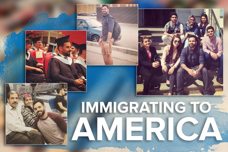 Immigrating to America graphic for Ali Khaleel Ali MBA 23