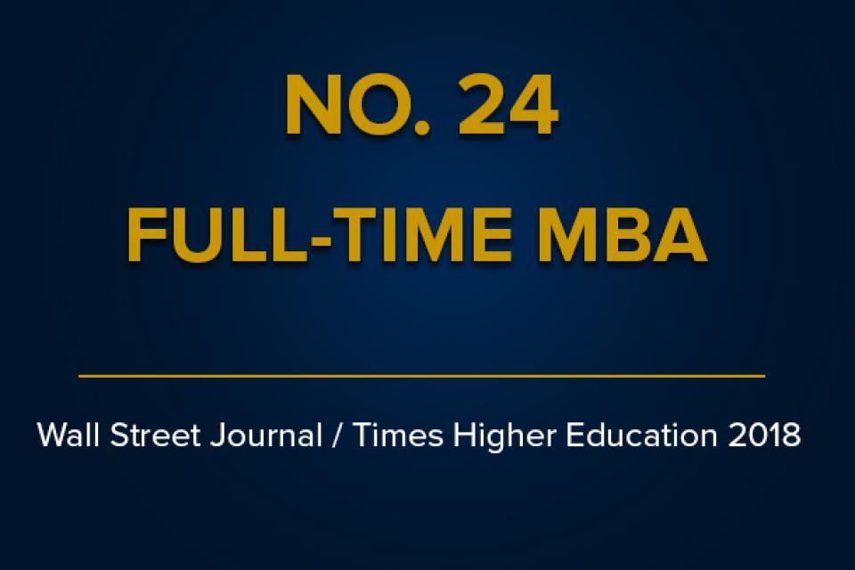 Wall Street Journal Times Higher Education 2018 Rankings